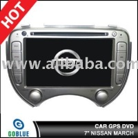 7 inch car dvd player speical for NISSAN MARCH with high resolution digital touch screen ,gps ,bluetooth,TV,radio,ipod