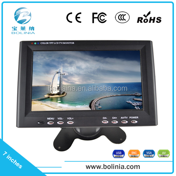 super clear image TFT 1080p 7 inch lcd monitor