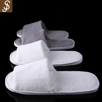 S&J High Quality White Disposable Slippers Spa Slippers Hotel Bathroom Slippers