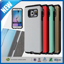 C&T Hybrid Protective white perforated mesh combo hard case for samsung galaxy s6