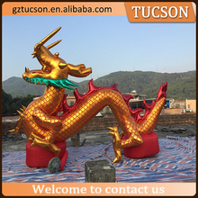 Customized chinese inflatable golden dragon for new year decoration