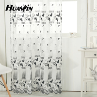 100% polyester 2015 Newest Popular Gauze Fabric Curtains