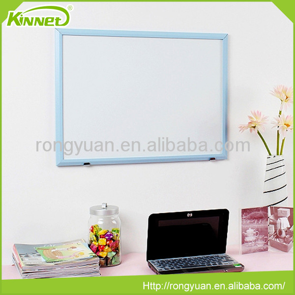 Blue MDF frame erasable magnetic drawing board