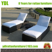 Youdeli rattan garden chaise lounge indoor outdoor furniture