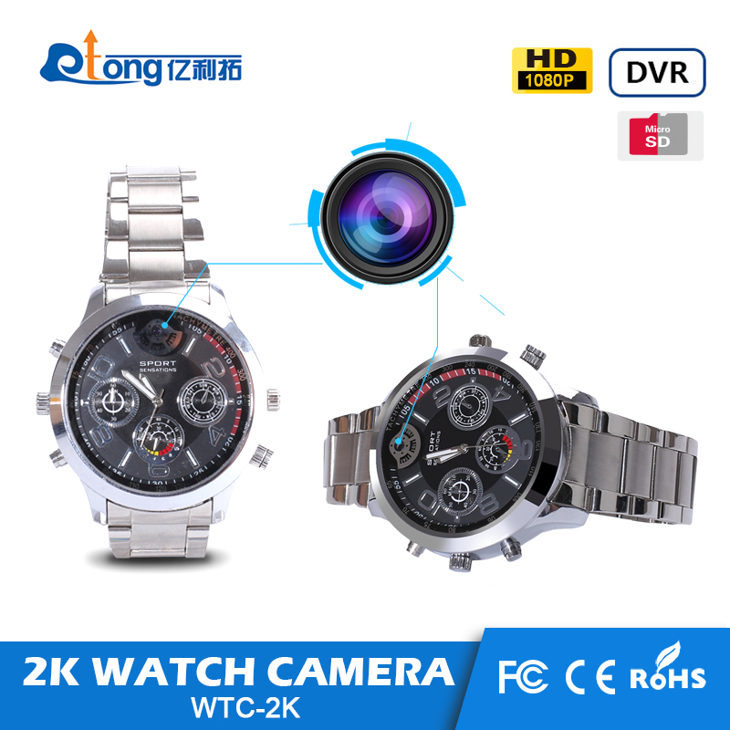 2016 hot product 16G voiced and video recorder hand watch watch hidden camera for person security