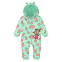 New product hot sale for 2015 add thick jumpsuits wholesales pure cotton monkey printed baby romper in China