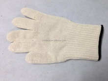 cotton knitted gloves latex working gloves double gloves