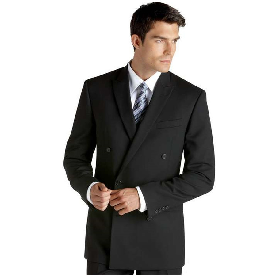 ea0277f2b5 Get Quotations · Superior quality!Two Breasted Peak Lapel Black Groom Men  Suits 2015 mens suits designs Man