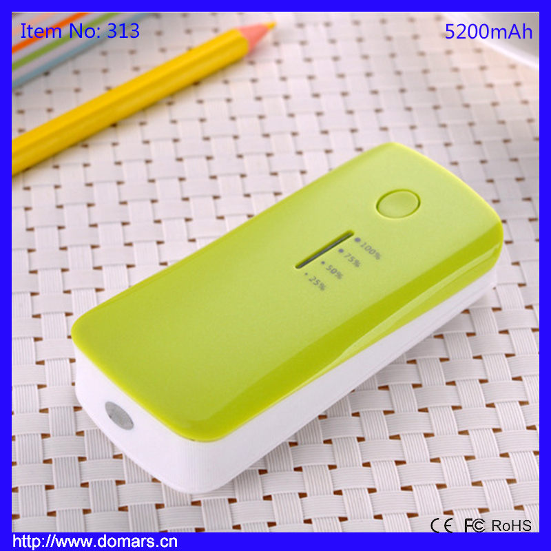 2017 Popular Design Power Bank 5200mAh Portable Charger for Mobile Phone