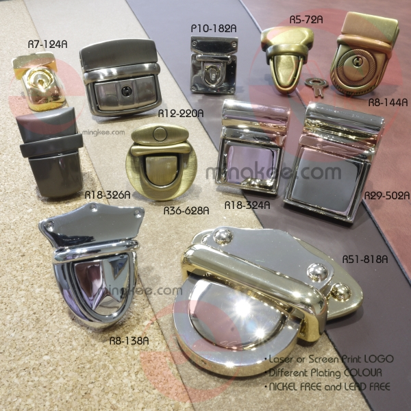 fashion Style metal Song A Metal High quality bag turn lock hardware decorative handbag lock