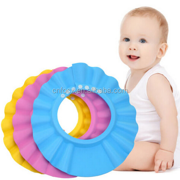 Baby Shower Cap / Kids Bathing Head Cap/ KIDS Shower Wash Hair Cover