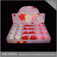 24pcs small flower shaped scented candle for wedding