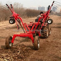 Tractor three point mounted rotary hay raker from China