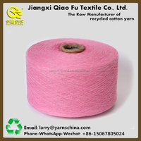 2016 High Quality Recycled Blended Cotton Polyester Yarn Dyed Yarn for Knitting and Weaving with Free Sample