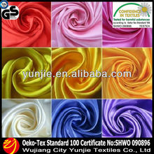 2014 polyester spandex stretch satin fabric for dress wedding