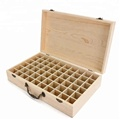 Wooden Storage Compartments Storing Essential Oil Bottles For Travel