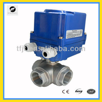CTF-010 3-way stainless steel 304 DC40 DC24V motorized ball valve for ,auto-control water -flow equipments