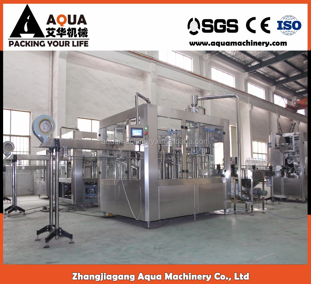 Mineral water making machinery automatic aerated drink filling machine for sale