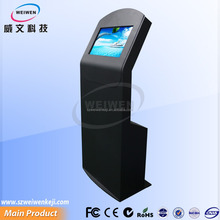 22inch public floor standing touch screen advertising kiosk with A4 printer