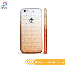 Fashion design tpu with luxury crystal mobile phone back cover for apple iPhone 5 5s