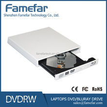 100% brand new slot loading usb2.0 blu-ray combo external slim optical drive bc-5640h (white/silver)