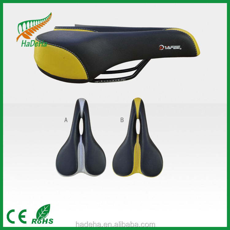 Bike Bicycle Saddle Leather Steel Rail Hollow Soft Cushion Road MTB Fixed Gear Bike Bicycle Cycling Saddle