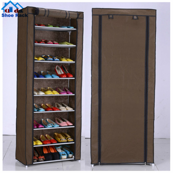 high quality collapsible double sided shoe rack