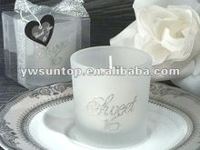 Silver Glitter Sweet Sixteen Round Candle Holder for wedding favor