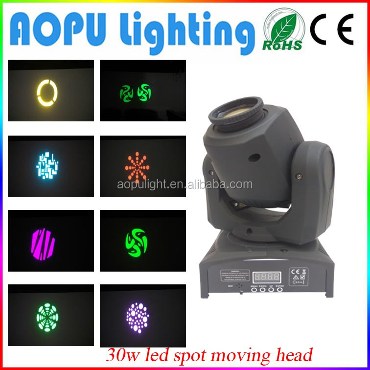 30w mini led spot moving head stage light mixer