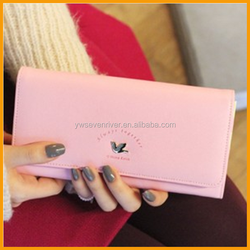 Hot Sale Fashion PU Women Famous Branded Wallet