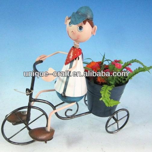 Bicycle boy bonsai pot