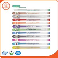 Lantu Environmental Friendly And Colorful Plastic Rubber Glitter Gel Pens