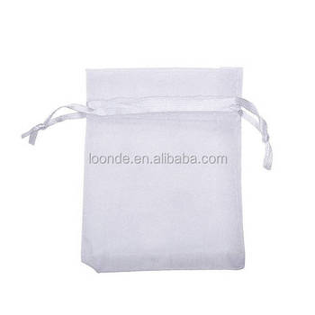 100 White Organza Bags 4x6 Inch Sheer Fabric Wedding Favor Bags With Drawstring