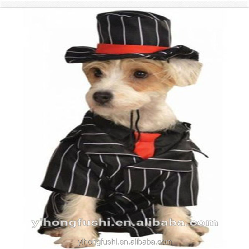 Costumes for all Occasions Black suit-style Pet Costume Mob Dog Dress up Clothes