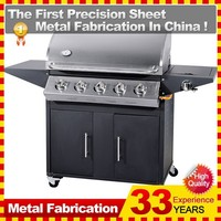 5 Burners plus Infrared Steel Gas BBQ Grill Trolley