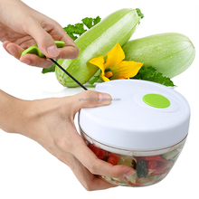 Manual Food Chopper Hand Held Vegetable Chopper / Mincer / Blender to Chop Fruits, Vegetables, Nuts, Herbs