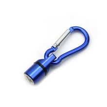 Aluminum Pet Anti Lost Flashing Light Carabiner Bling Night LED