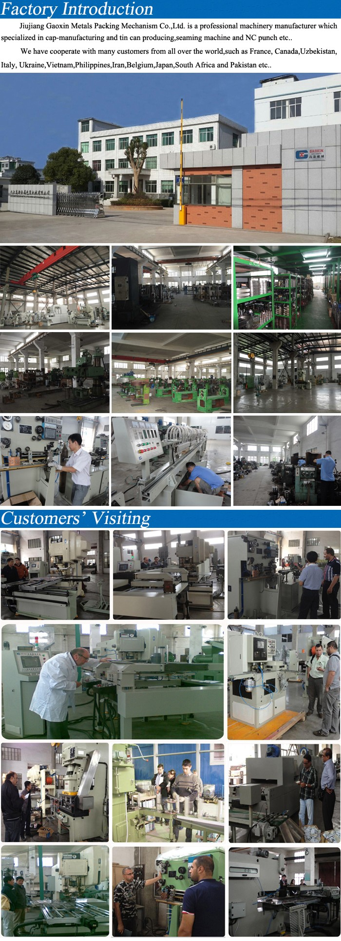 Food Tin Can Making Machine Production Line