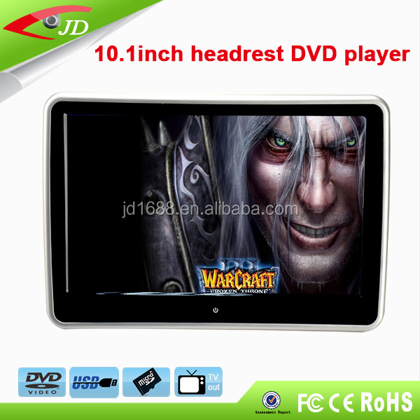 USD,SD ,Wireless Game support 10.1 inch headrest car dvd player for Audi