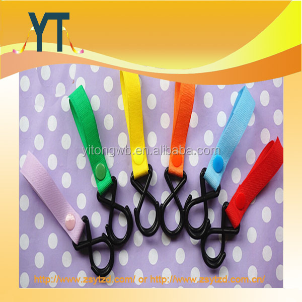 New Welcro Fastened Clip Hooks For Baby Strollers,Multipurpose Baby Stroller Matel Hook