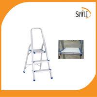 ML-403 Upper Reach Reinforced Metal Folding Step Ladder Stool Household Kitchen Use