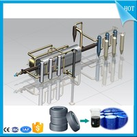 Continuous waste tire engine oil refining machine to diesel /plastic pyrolysis oil plant