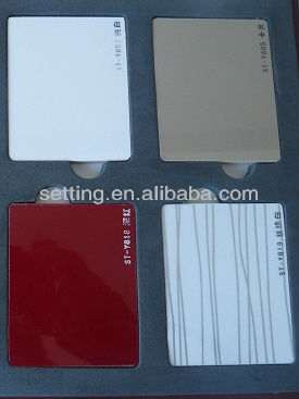 SETTING High gloss MDF board / PVC film / UV coating /solid color board for cabinet from setting
