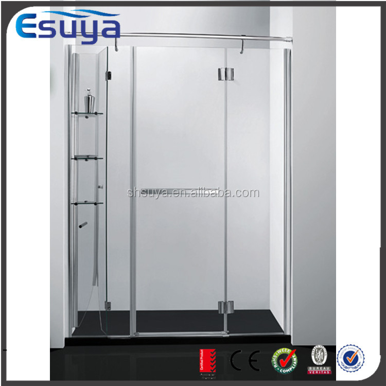 Shanghai SUYA sliding door steam aluminium shower screen profile/ tempered shower screen