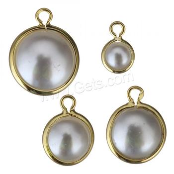 wholesale high quality and never fade brass jewelry gold plated pearl pendant for women