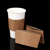 Custom corrugated paper coffee cup sleeve/custom logo hot cup sleeve
