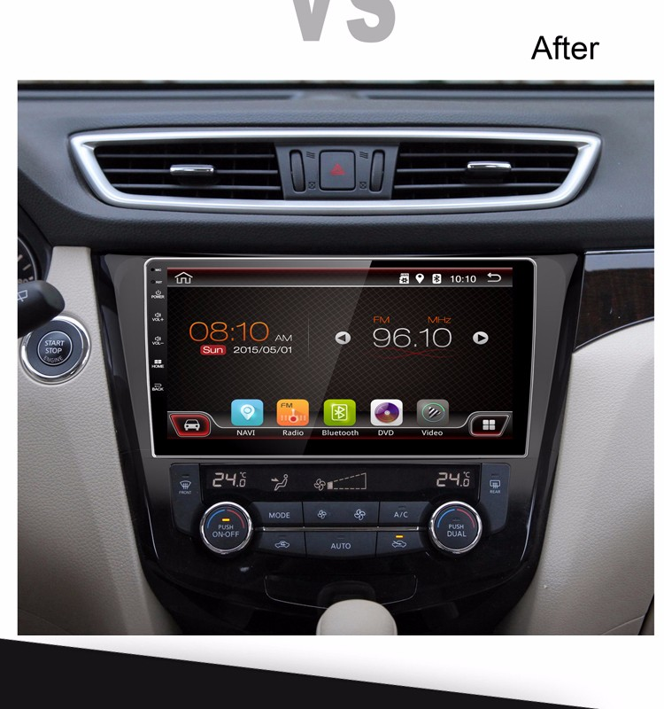 10.1 inch x-trail car dvd player with Navigation supports GPS Radio and more functions