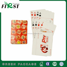 Promotion poker Type and paper material game cards custom design playing cards for advertising