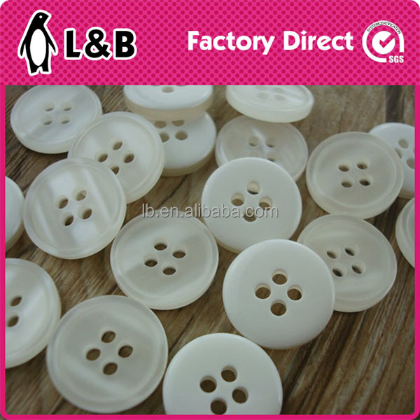 wholesales white resin button for men shirt