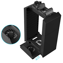 Game Console Vertical Cooler Stand Holder for PS4 PS3 PlayStation 4 Pro / Slim & PS Move Controller Charger